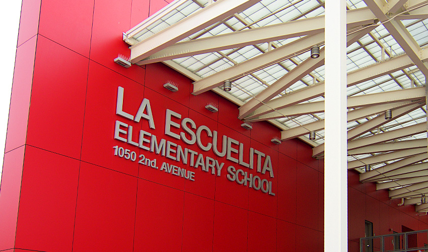 La Escuelita Elementary School Sign