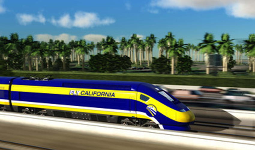 CArtist Rendering of California High Speed Rail Train