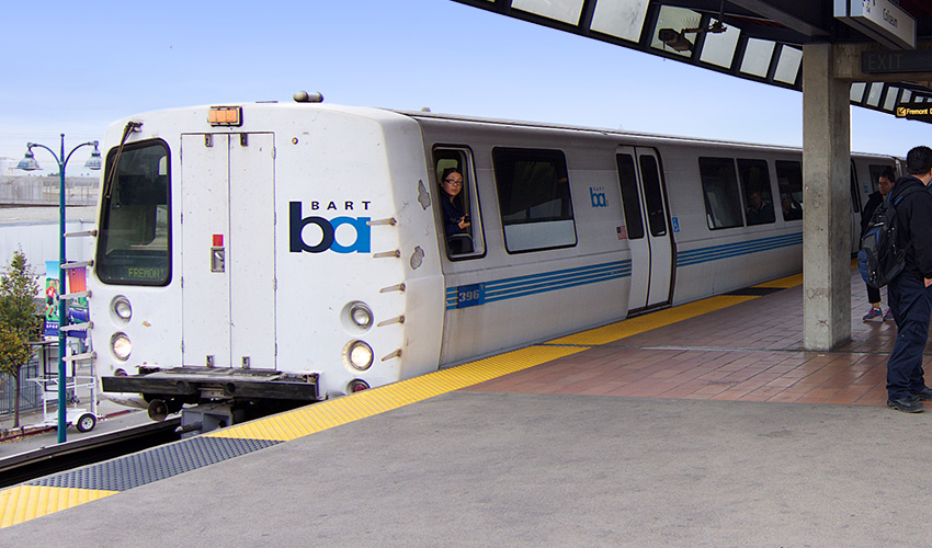 BART Train at Station