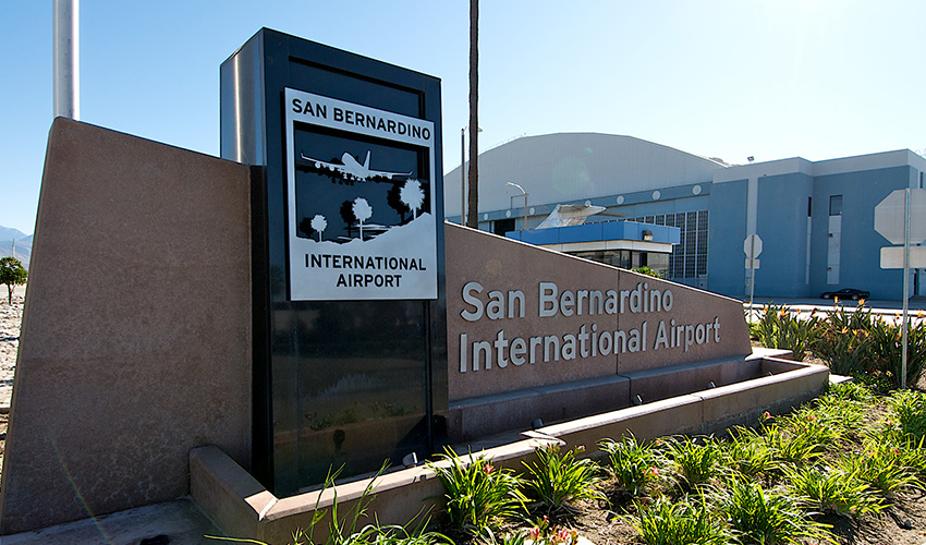 San Bernardino International Airport Sign