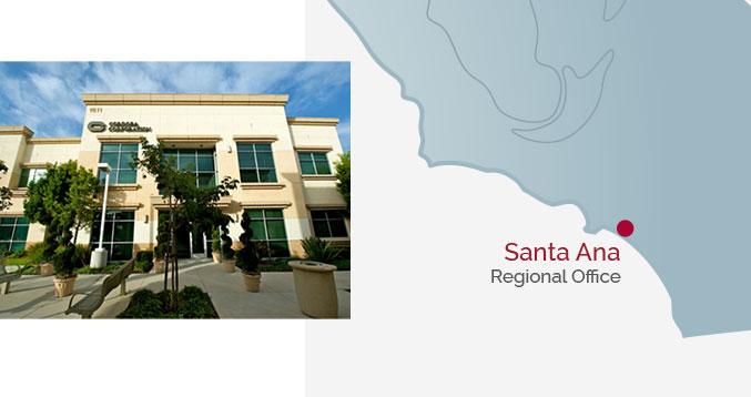 Santa Ana Regional Office - Building & Map