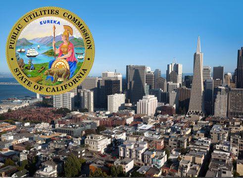 Public Utilities Commission badge & city view
