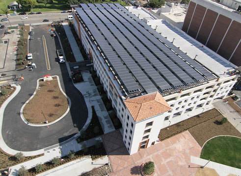Aerial view of Long Beach Community College