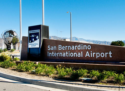 Entrance to San Bernardino International Airport