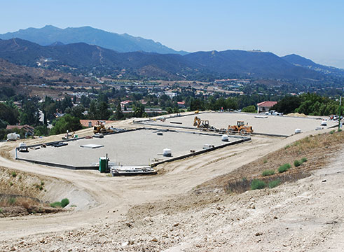 Thousand Oaks Reservoir in construction