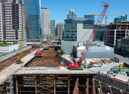 Transbay Transit Center in construction