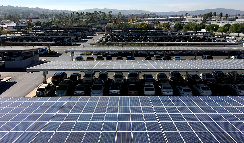 Solar panels at City of Industry