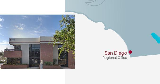 San Diego Regional Office - Building & Map