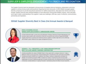 excerpt from SDG&E Diversity Report showing photos and quotes